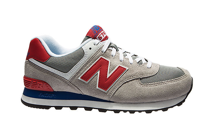 new balance 574 grigio rosso
