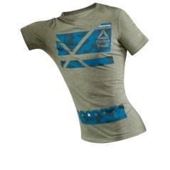 T-Shirt Uomo Crossfit Performance Blend Graphic verde