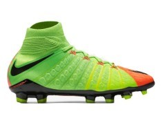 Junior chaussures de Football HyperVenom Phantom II FG orange vert