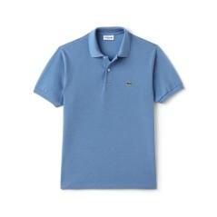 Polo Lacoste Classic Chiné azzurro