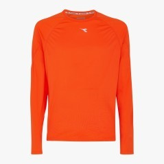 T-Shirt Man Long-Sleeved Sun Lock orange