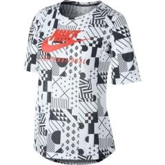 T-Shirt Donna International bianco nero
