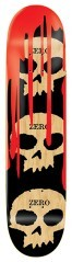 Skateboard 3 Skulls Blood