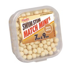 Mini Boilies Swim Stim Match White 7 e 9 mm