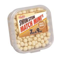 Mini Boilies Swim Stim Match White 7 e 9 mm