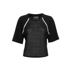 T-Shirt Donna L SS nero