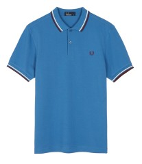 Polo Slim Fit azzurro