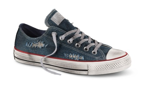 Scarpe Canvas Denim Destroyed Ox
