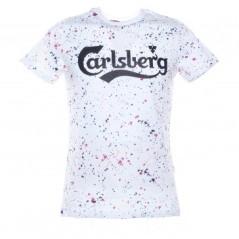 T-Shirt Uomo Effetto Spruzzi fantasia bianco