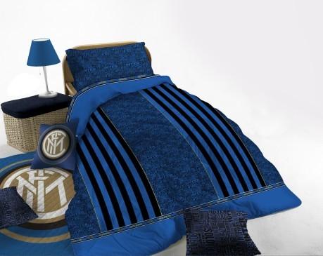 Piumone Matrimoniale Inter.Trapunta Matrimoniale Inter Colore Nero Azzurro Novia Sportit Com