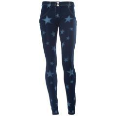 Jeans Donna Stellato blu fantasia
