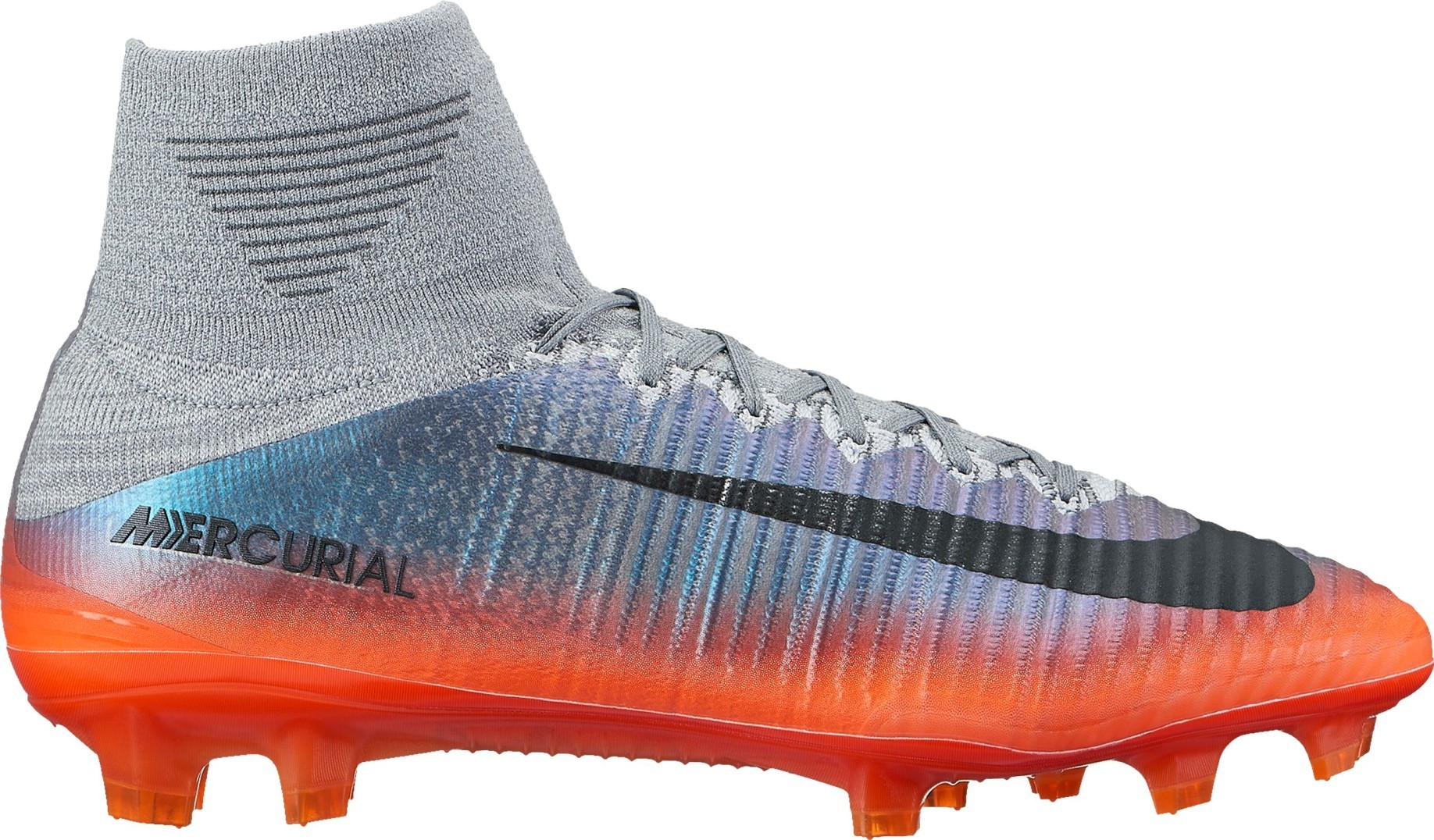 Football boots Nike Mercurial Superfly V CR7 FG Cool Grey colore Silver  Orange - Nike - SportIT.com 765684dd2e5