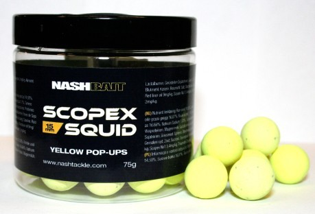 Pop Ups Scopex Squid-15 mm-gelb