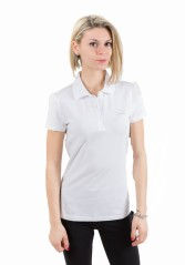 Polo Donna Train 7 Lines Evolution bianco