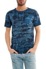 T-Shirt Reversible Men's fancy blue