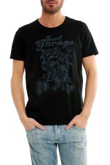 T-Shirt Man Print Surf Garage black