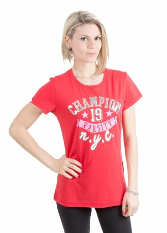T-Shirt Donna Athletic Graphic rosso