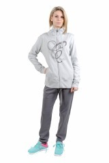 Tuta Donna Full Zip Interock grigio grigio