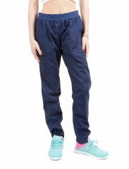 Hose Damen Popelin Stretch blau