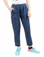 Jeans Donna Chambray blu