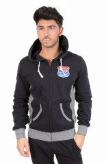 Sweatshirt Full Zip Hood Route 66