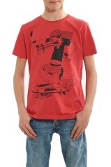 T-Shirt Stampa Lupo Jr rosso