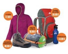 Kit trekking bambina (scarpe, k-way, zaino, sacco, borraccia)