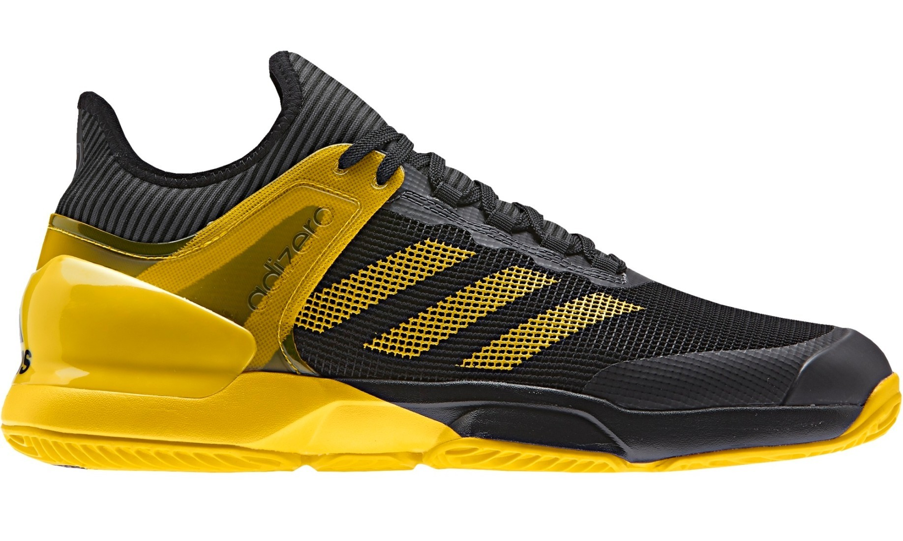 the latest 455dd 010aa Mens Shoes Adizero Ubersonic 2 Clay colore Black Yellow - Adidas -  SportIT.com