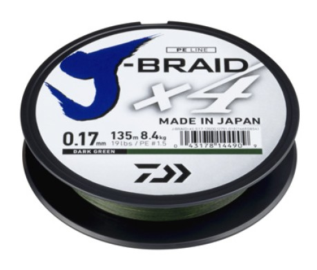 Filo J-Braid X4 Dark Green 270 m