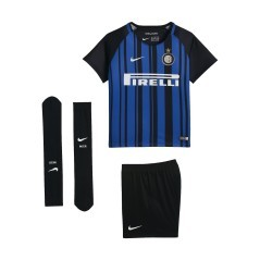 Kit Junior Inter Home 17/18 nero azzurro