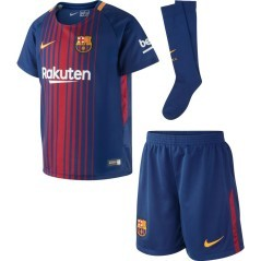 Kit Junior Barcellona Home 17/18 blu rosso