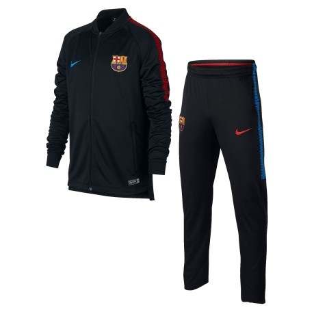 Tuta Junior Barcellona Tracksuit 17/18 nero