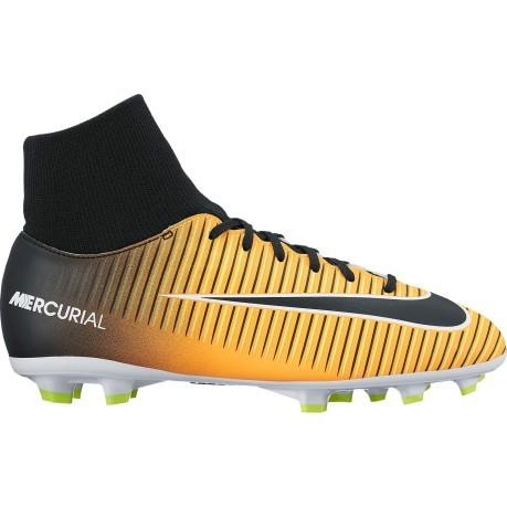Scarpe Calcio Bambino Nike Mercurial Victory VI FG Giallo Nero ... a7e6c5f0a62