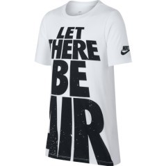 "T-Shirt Bambino Sportswear ""Let There Be Air"" grigio"