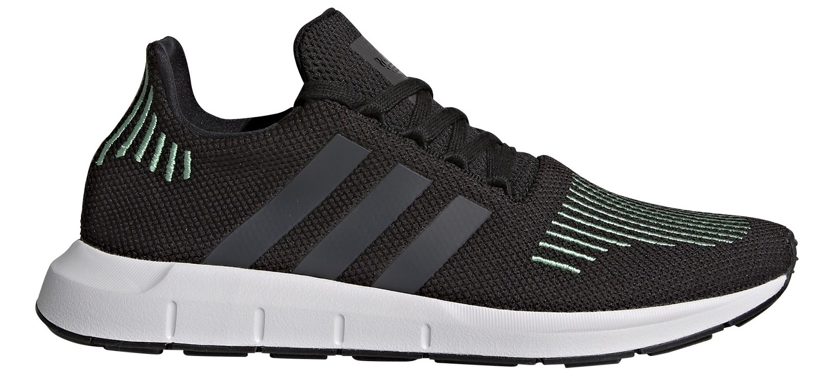 more photos 6f996 ba685 Mens Shoes Swift Run colore Black Green - Adidas Originals - SportIT.com