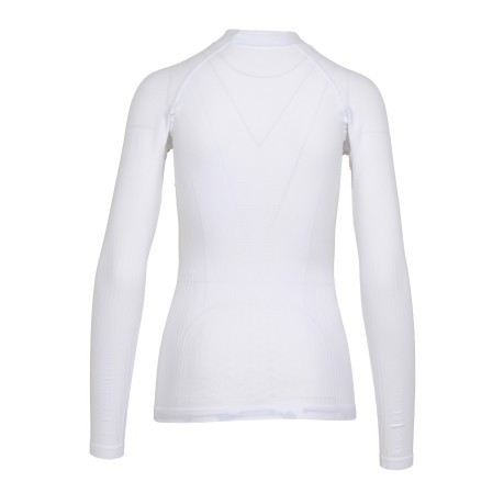 T-Shirt Donna Maniche Lunghe Turtle Neck Act bianco