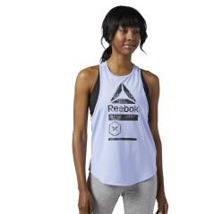 Canotta Donna ActivChill Graphic bianco modella