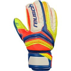 Guanti Portiere Junior Reusch S1 Finger Support blu giallo