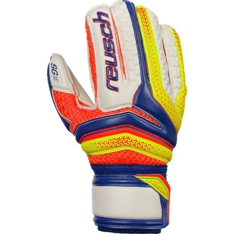 Guanti Calcio Serathor Finger Support blu giallo dorso