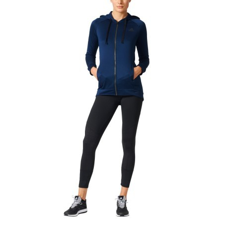 Tracksuit Women s Hoodie and Tight colore Blue Black - Adidas ... 233823f392e3