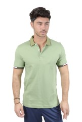Hommes Polo Stretch-blu