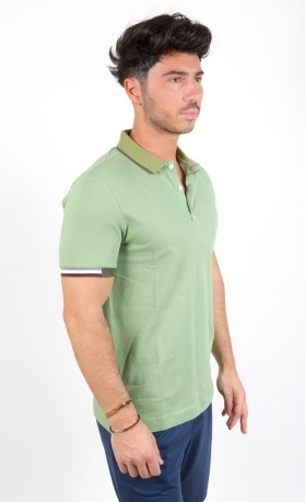 Polo Uomo Stretch blu