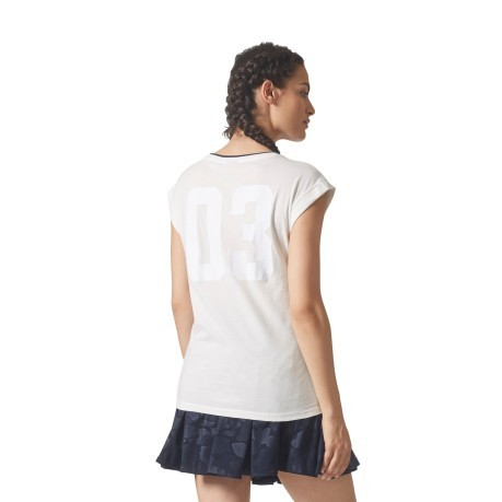T-Shirt Donna BF Roll Up  bianco modella