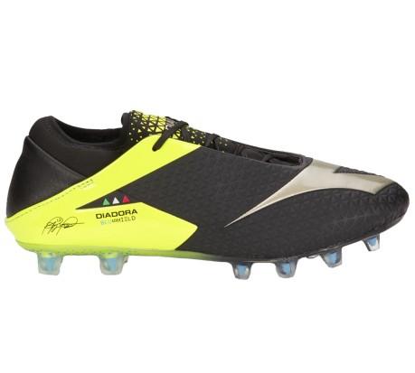 Zapatos de fútbol Diadora MW BluShield RB FG colore negro amarillo ... 6f16c6436a61b