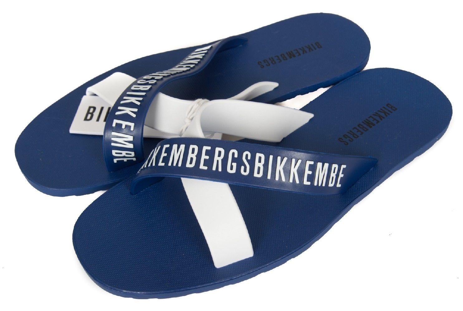 Ciabatte Uomo Incrociate colore Blu Bianco - Bikkembergs - SportIT.com b325d61c6d0