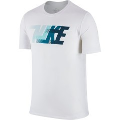 Men's T-Shirt Dry Training Dash white blue