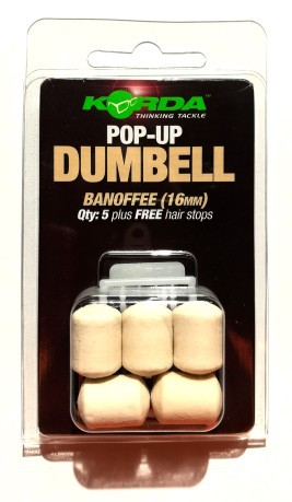 Pop Up Dumbell 16mm bianco