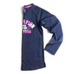 T-Shirt Maniche Lunghe Bambina Dept blu