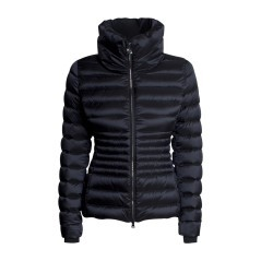 Quilted Jacket Ladies Satin Effect High Neck