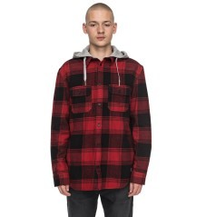 Man shirt Long Sleeves Runnel Flannel black red